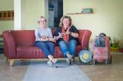 Kurz vor Tapetenwechsel-Eröffnung: Christine Courti, Präsidentin des Trägervereins, und Leiterin Barbara Sterkman in den Räumlichkeiten des zukünftigen Tageszentrums. (Bild: Andrea Stalder)