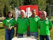 Die Buchser Schweizer Meister: Jenny Bernegger, Hans Hardegger, Pascal Mocaer und Peter Müntener (von links). (Bild: PD)