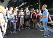Diese Giswiler Schulklasse reiste an die Swiss Skills in Bern. (Bild: Daniel Schwab, Apimedia, 12.September 2018)