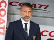Trainer Lorenzo D'Anna von Chievo Verona befindet sich in der Serie A mit seinem Team nach dem Abzug von drei Punkten mit zwei Zählern im Minus (Bild: KEYSTONE/EPA ANSA/FILIPPO VENEZIA)
