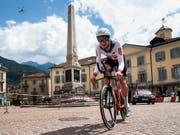 Der Schweizer Zeitfahr-Meister Stefan Küng gehört im WM-Zeitfahren in Innsbruck aufgrund der vielen Höhenmetern nicht zu den Favoriten (Bild: KEYSTONE/ALESSANDRO CRINARI)