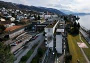 Blick auf einen Teil des Areals des ehemaligen Kantonsspitals Zug. (Bild: Stefan Kaiser)