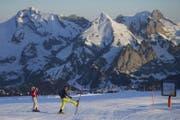 Idyllisches Toggenburg - im Bild die Abfahrt vom Chäserrugg. Fernab der Skipisten geht es allerdings eher ruppig zu und her. (Bild: Keystone)