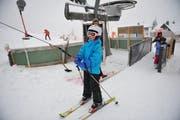 Kinder beim Skifahren auf Wizweli. (Archivbild: Corinne Glanzmann)