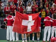 Das Duell gegen Schweden ist für das Schweizer Davis-Cup-Team die Dernière vor der Reform des Wettbewerbs (Bild: KEYSTONE/ALEXANDRA WEY)