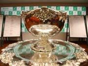 Die begehrte Trophäe im Davis Cup auch als «hässlichste Salatschüssel der Welt» bekannt (Bild: KEYSTONE/EPA/JULIEN WARNAND)