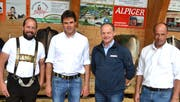 OK-Präsident Johannes Näf mit den Experten Walter Rhyner, Josef Portmann und Christian Näf (von links). (Bild: Peter Jenni)