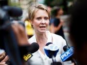 Muss ihre Ambitionen für das Bürgermeister-Amt von New York vorläufig begraben: «Sex and the City»-Serienstar Cynthia Nixon. (Bild: KEYSTONE/EPA/JUSTIN LANE)
