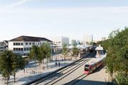 Grünes Licht für das Bahnhofprojekt in Herisau - es kann mit hoher Priorität vorangetrieben werden. (Bild: PD)