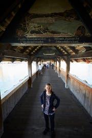 Nicole Aeschlimann auf der Luzerner Kapellbrücke. (Bild: Jakob Ineichen, 12.September 2018)