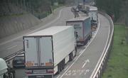 Der Verkehr staut sich am gesperrten Gotthard. (Bild: Webcam www.gotthard-strassentunnel.ch, 14. September 2018)