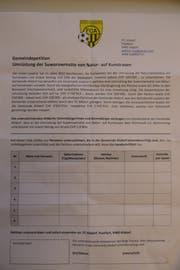 Die Petition können alle Altdorfer Stimmberechtigte unterschreiben. (Bild: Philipp Zurfluh)