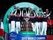 2017 gewann Frankreich zum zehnten Mal den Davis Cup (Bild: KEYSTONE/AP/CHRISTOPHE ENA)