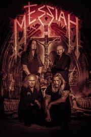 Remo Broggi, Steve Karrer, Patrick Hersche und Andy Kaina (von links unten im Uhrzeigersinn) von Messiah. (Bild: Mike Weibel Fotografie)