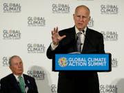 «Wir starten unseren eigenen verdammten Satelliten»: der Gouverneur des US-Bundesstaats Kalifornien, Jerry Brown. (Bild: KEYSTONE/AP/ERIC RISBERG)