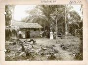 Die Pallottiner 1891 auf Mission in Kamerun.