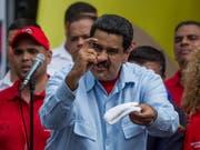 Wird von den amerikanischen Staaten als «Diktator» gesehen: Venezuelas Staatschef Nicolas Maduro. (Bild: KEYSTONE/EPA EFE/MIGUEL GUTIERREZ)