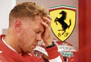 Enttäuscht: Sebastian Vettel nach seinem dritten Platz im Qualifying. (Bild: Franck Robichon/EPA (Singapur, 15.September 2018))