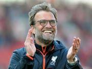 Und wie er Strahlen kann: Jürgen Klopp bleibt mit Liverpool in der Premier League siegreich (Bild: KEYSTONE/AP/RUI VIEIRA)