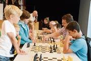 Konzentration beim Schachclub in einer ruhigen Ecke des Kinder- und Jugendtages. (Bild: Hansruedi Rohrer)