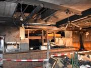Der Raum in einem Gewerbegebäude in Felsberg wurde als Vereinslokal benutzt. (Bild: Kantonspolizei Graubünden)