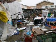 Ein von Taifun «Mangkhut» zerstörter Markt in der besonders hart getroffenen Stadt Tuguegarao. (Bild: KEYSTONE/AP/AARON FAVILA)