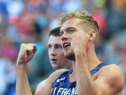Der neue Zehnkampf-Weltrekordhalter: Kévin Mayer (Bild: KEYSTONE/EPA/SRDJAN SUKI)