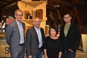 Das Projektteam mit Museumsleiter Thomas Gnägi, Pfarrer Daniel Hanselmann, Maja Suenderhauf, und Sepp Gähwiler. (Bild: Adi Lippuner)