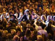 60 Gruppen - hier die Bieler Popband Pegasus - spielten während dreier Tage auf zehn Bühnen. (Bild: Label Suisse Festival)