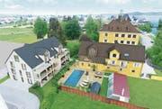 Teile der historischen Gebäude sind denkmalgeschützt. Der Kanton Thurgau machte beim Projekt Auflagen. (Bild: PD)