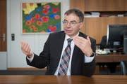 Als Verwaltungsratspräsident der Jungfraubahn Holding in Erklärungsnot: HSG-Rektor Thomas Bieger. (Bild: Urs Bucher)