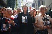 Stille Mahnwache der Samstagsmütter in Istanbul. (Emrah Gurel/AP, 1. September 2018)