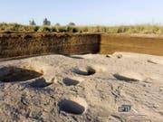 Im Nildelta hat es schon 5000 vor Christus sesshafte Gesellschaften gegeben. Archäologen fanden Tierknochen und Keramik in einem der ältesten Dörfer. (Bild: KEYSTONE/AP Egyptian Ministry of Antiquities)