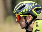 Simon Yates vom Team Mitchelton-Scott - der neue Leader Vuelta (Bild: KEYSTONE/EPA EFE/MANUEL BRUQUE)
