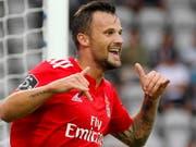 Endlich mal wieder jubeln: Haris Seferovic trifft für Benfica Lissabon (Bild: KEYSTONE/EPA LUSA/HOMEM DE GOUVEIA)