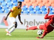 Soll beim FC Zürich für die entscheidenden Tore sorgen: der junge Nigerianer Stephen Odey (Bild: KEYSTONE/ANTHONY ANEX)
