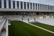 Das neue Kleinfeld Stadion in Kriens hat kürzlich seinen Kunstrasen erhalten. (Bild: Boris Bürgisser (Kriens, 10. September 2018))