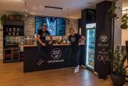 Dennis Wild und Markus Kragler in ihrer Luzerner Superfood-Bar. (Bild: PD)