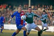 Als 21-Jähriger war Maric (rechts) fester Bestandteil des FC St.Gallen. (Archivbild: Michel Canonica, St.Gallen 16. März 2006)