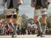 Ein weiterer Höhepunkt des Oktoberfests in München: Der traditionelle Trachtenumzug. (Bild: Keystone/EPA/PHILIPP GUELLAND)