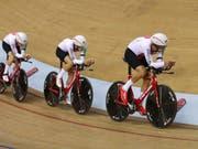 Bisher vor allem auf der Bahn erfolgreich: der Schweizer Stefann Bissegger (Bild: KEYSTONE/AP PA/JOHN WALTON)
