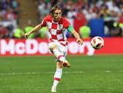 Luka Modric spielt für die kroatische Fussballnationalmannschaft im Final der WM gegen Frankreich. (Bild: EPA/Facundo Arrizabalaga (Moskau, 15. Juli 2018))