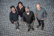 Hans-Peter Pfammatter, Catherine Huth, Nicola Romanò und Urban Mäder (von links). (Bild: Nadia Schärli, Luzern, 19. September 2018)