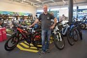 Das Angebot der E-Bikes wird laut Steffen Förster immer grösser. (Bild: Nicola Ryser)