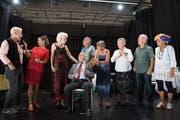 Das Seniorentheater Kriens bei der Probe für ihr neues Stück, das am Dienstag Premiere feiert. Bild: Eveline Beerkircher (Kriens, 20. September 2018)