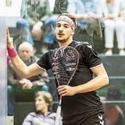 Konstanter werden, um häufiger zu gewinnen: Das will der Luzerner Squash-Profi Reiko Peter. (Bild: Stefan Kleiser (Uster, 7. April 2018))