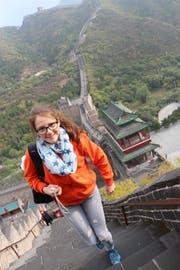 Gwendoline Flückiger während ihres zweiwöchigen Chinaaufenthaltes im Oktober 2017. (Bild: Yinhui Bao)