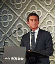 Manuel Valls äusserte sich an einer Pressekonferenz zu seinen Ambitionen in Spanien. (Bild: David Ramos/Getty; Barcelona, 25. September 2018)