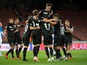 Der FC Thun freut sich im Letzigrund über drei Punkte (Bild: KEYSTONE/ENNIO LEANZA)