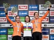 Niederländischer Dreifach-Triumph im WM-Zeitfahren der Frauen (Bild: KEYSTONE/EPA/DANIEL KOPATSCH)